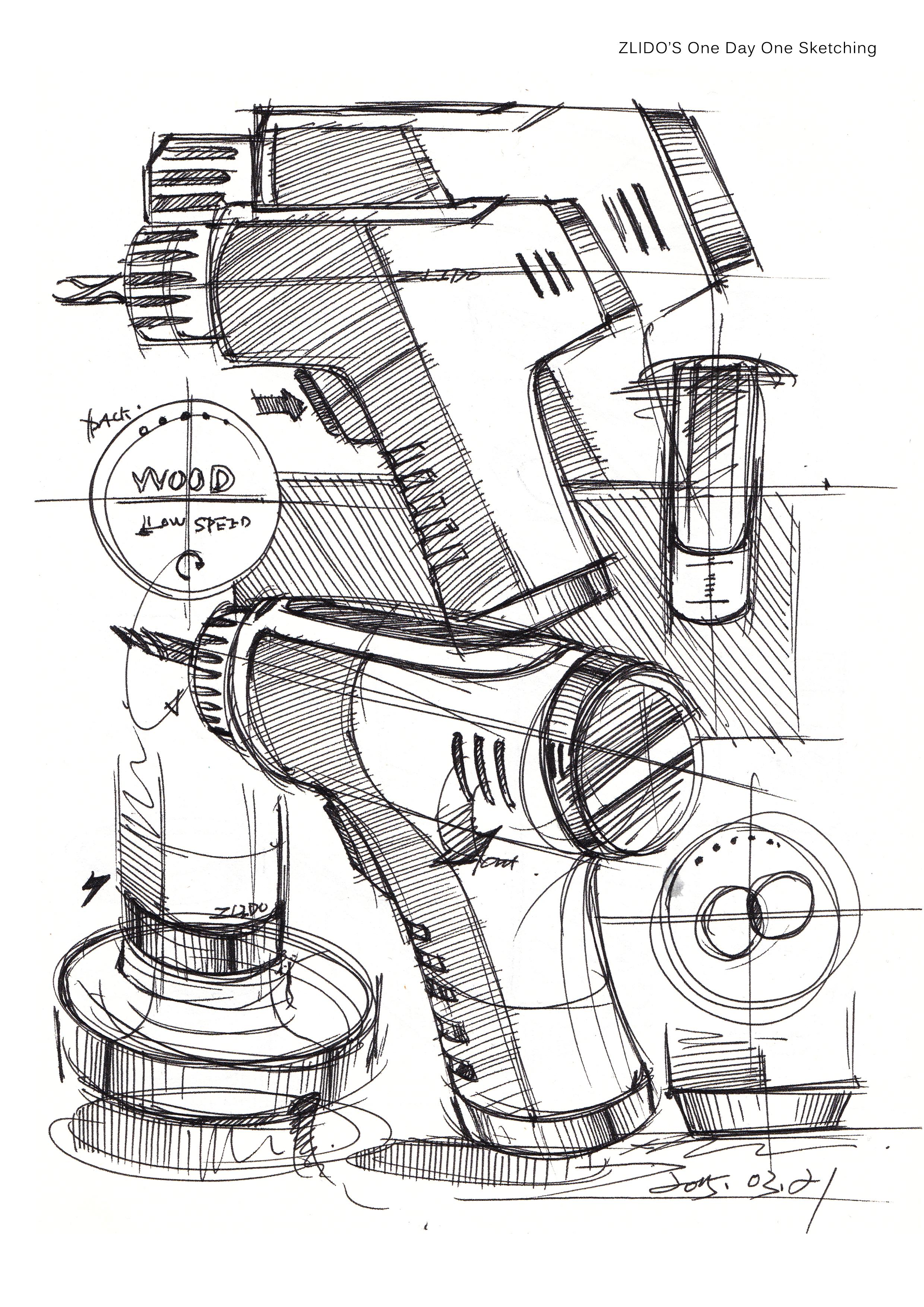 2015产品设计手绘3月 一日一画