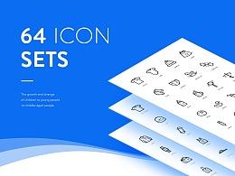64 ICON SETS