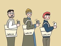 WALSH 练习插画