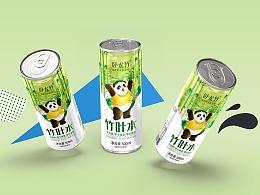 善行研创一清新好水卧龙竹品牌策划竹叶水饮料包装设计
