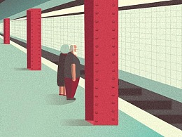 AI教程!教你绘制有爱地铁插画