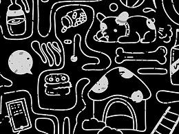 黑白涂鸦迷宫