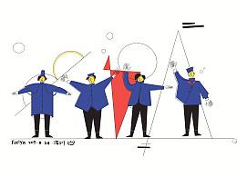 Beatles专辑封面插画设计