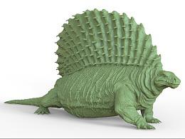 远古异齿龙3D打印模型