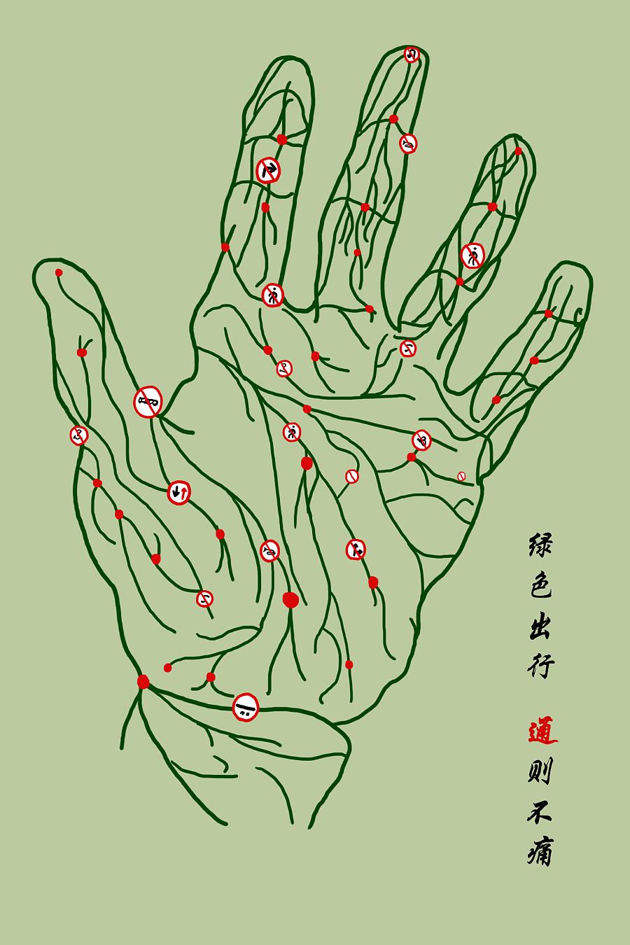 手绘--公益海报