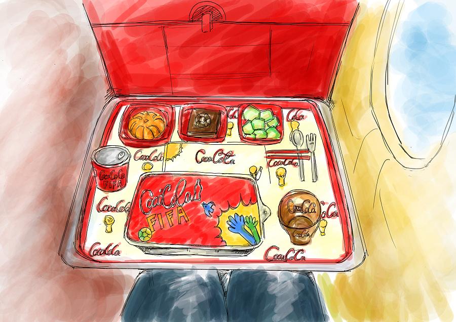 飞机 世界杯餐