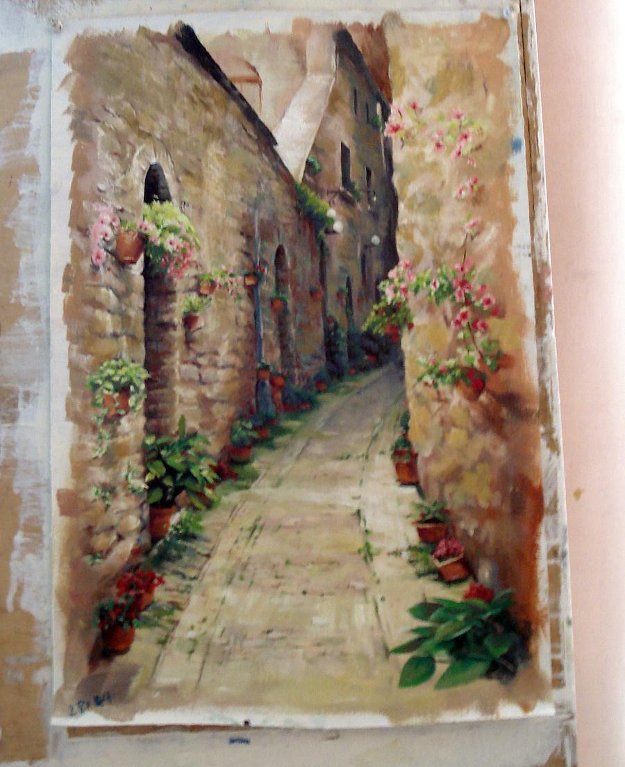 临摹新作-手绘油画