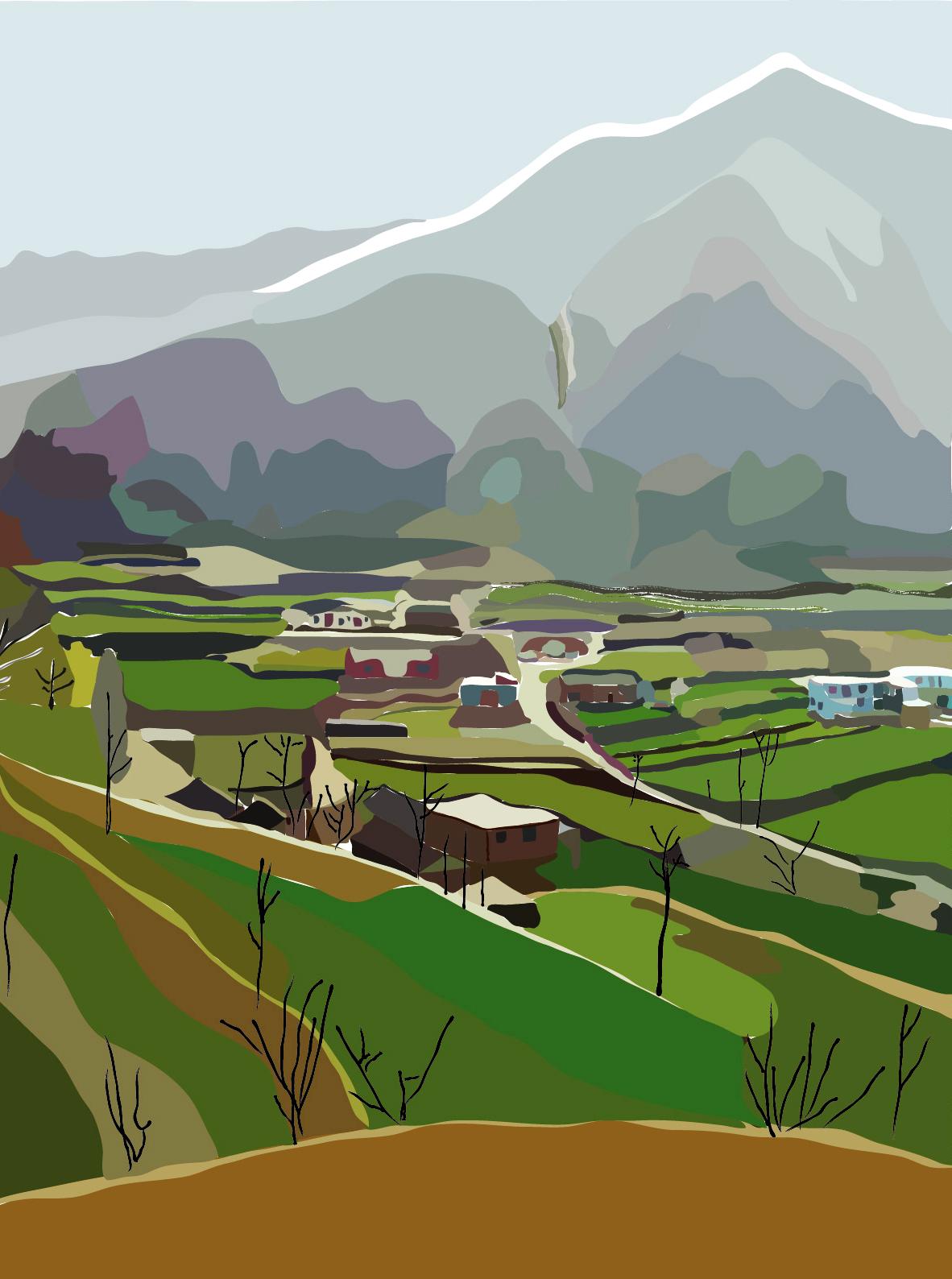 家乡风景图