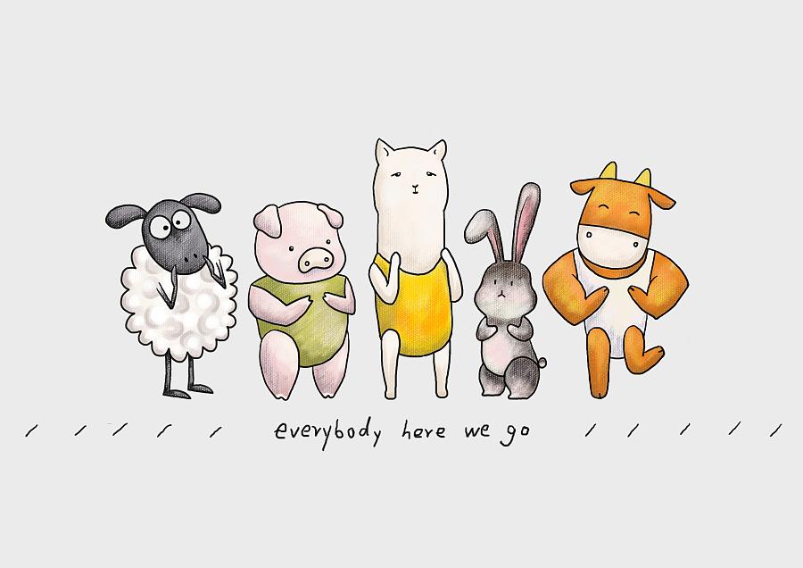 原创作品:五只动物