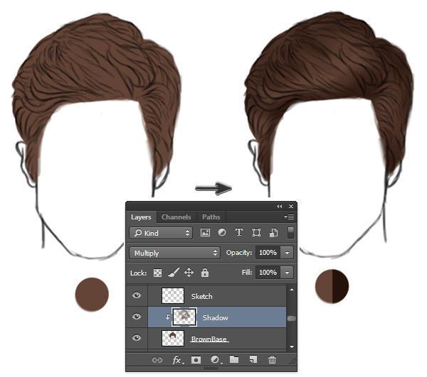 ps培训在photoshop中绘制逼真的头发短发和胡须室内设计设计要多少钱图片