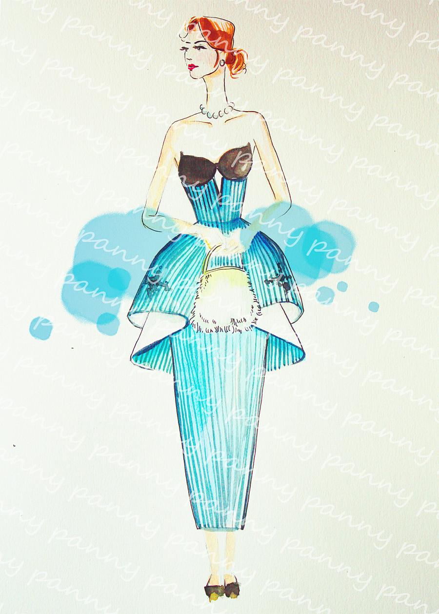 水彩时装画 服装效果图