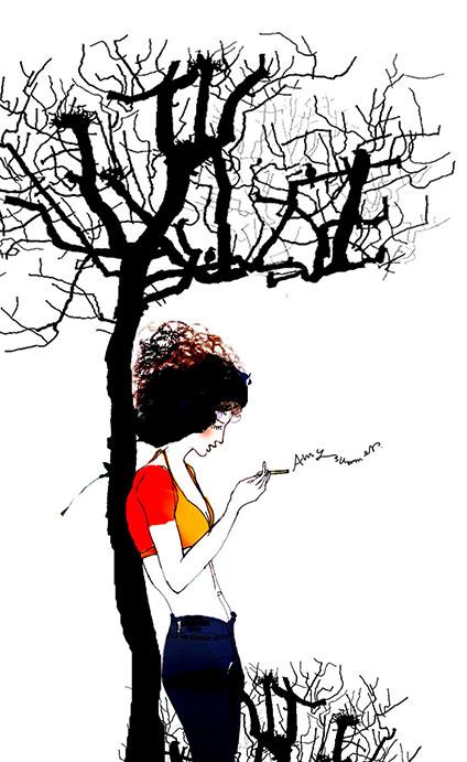 原创作品:个性唯美手绘插画