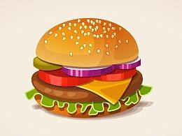 手绘卡通食物