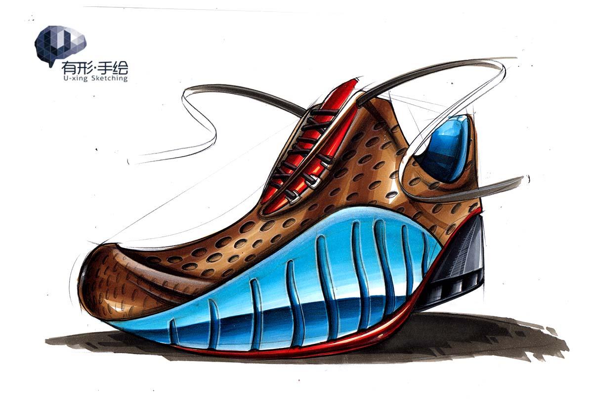 【有形手绘教程与点评】鞋子-手绘