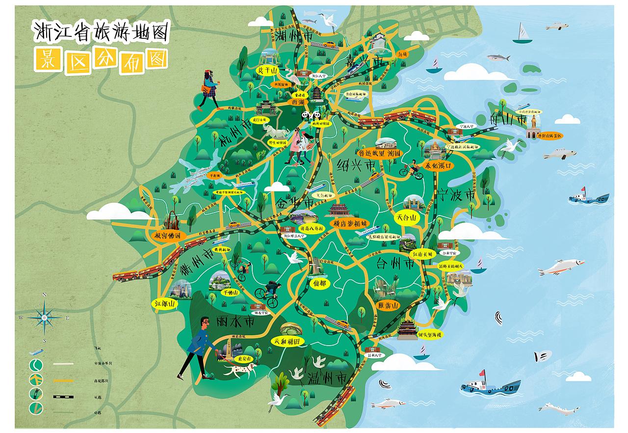 浙江省旅游地图