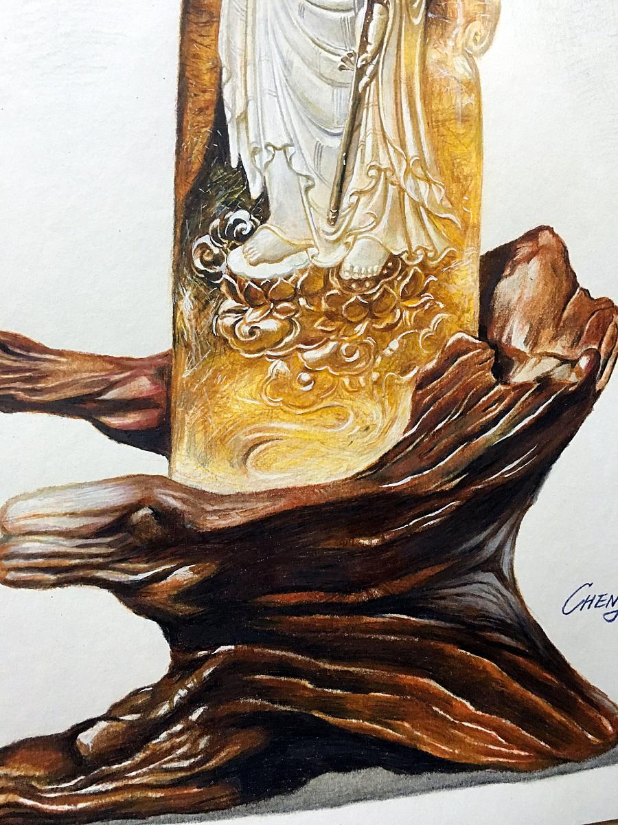 彩铅手绘—水晶地藏王菩萨