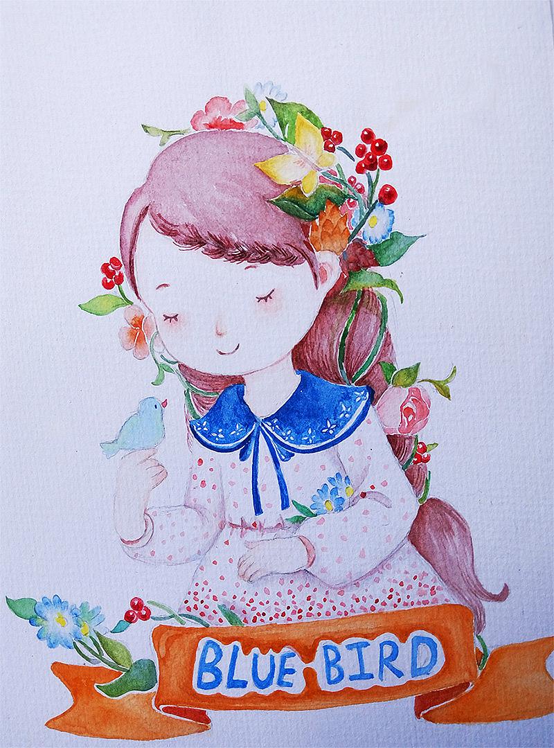 水彩手绘小稿 插画 儿童插画 蜜甘绪 - 原创作品