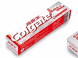 高露洁牙膏盒子