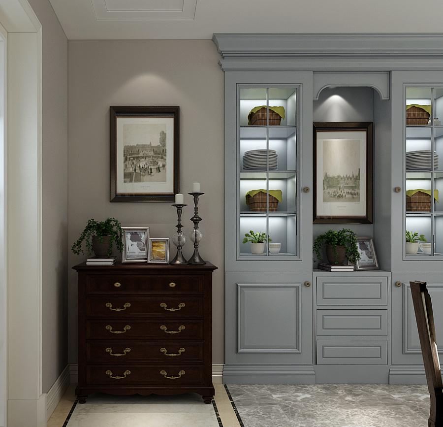 入户门玄关更加体现出美式风格的轻松自在.图片