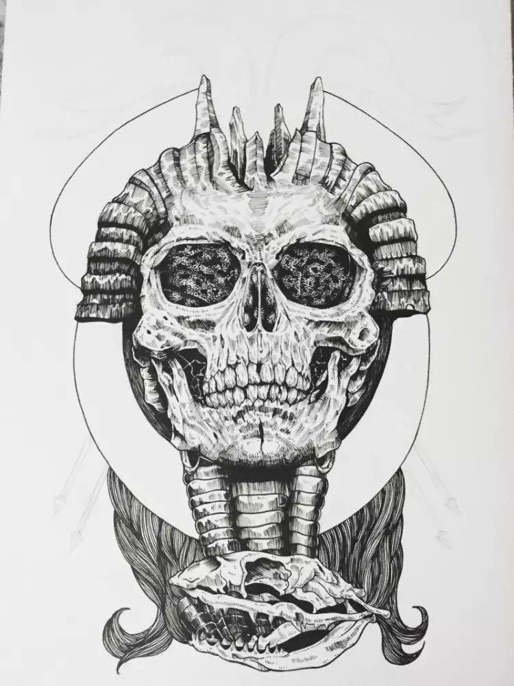 针管笔 黑白手绘