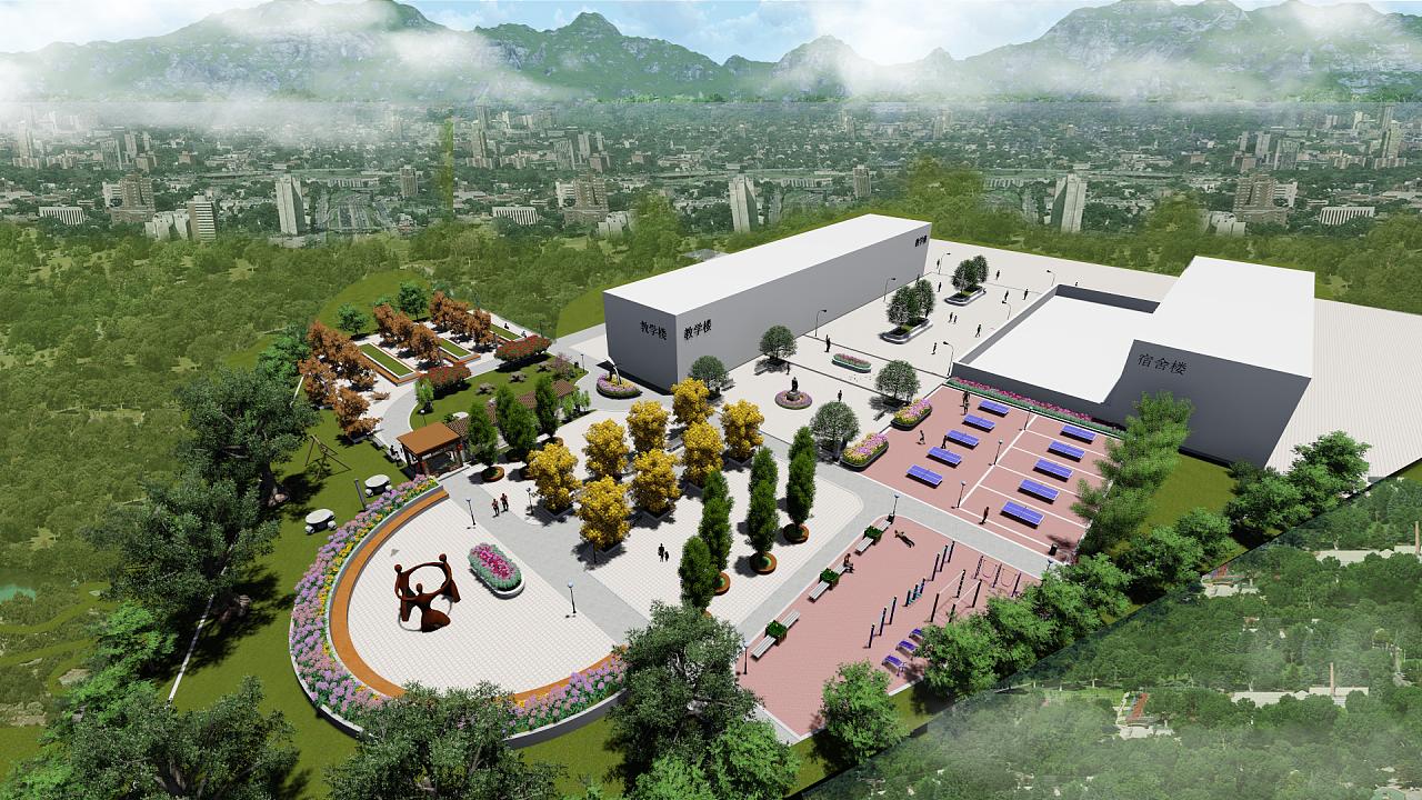 校园绿化|空间|景观设计|吴安静 - 原创作品 - 站酷