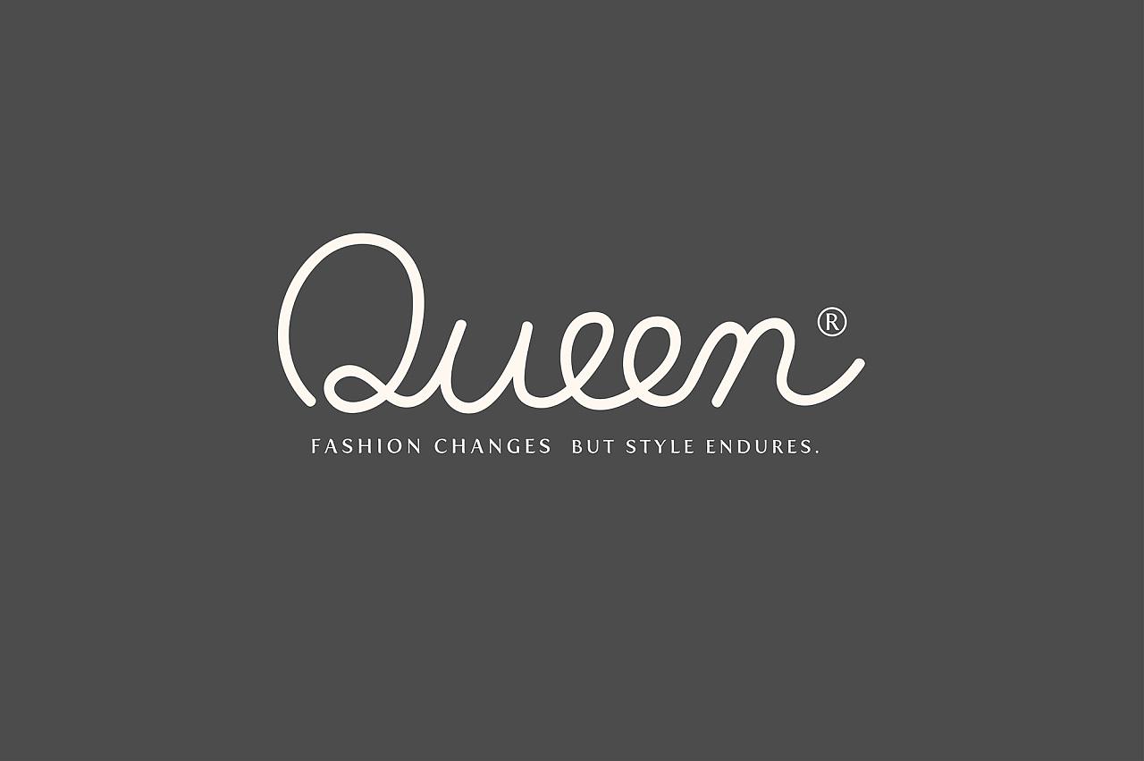 queen logo design 女王服装品牌形象标志设计图片