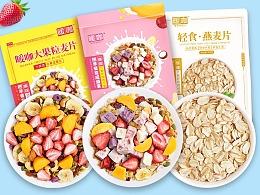 酸奶大果粒坚果果干燕麦片包装设计