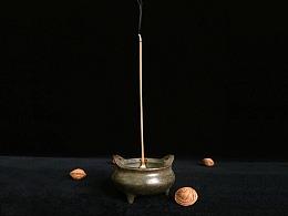 仿古做旧青铜巧耳香炉手炉