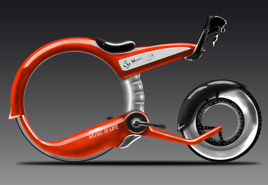 原创作品:未来自行车图片