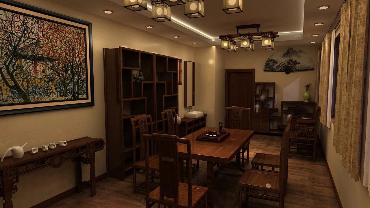中式风格的客厅或是茶室个人挺喜欢,就是家图片