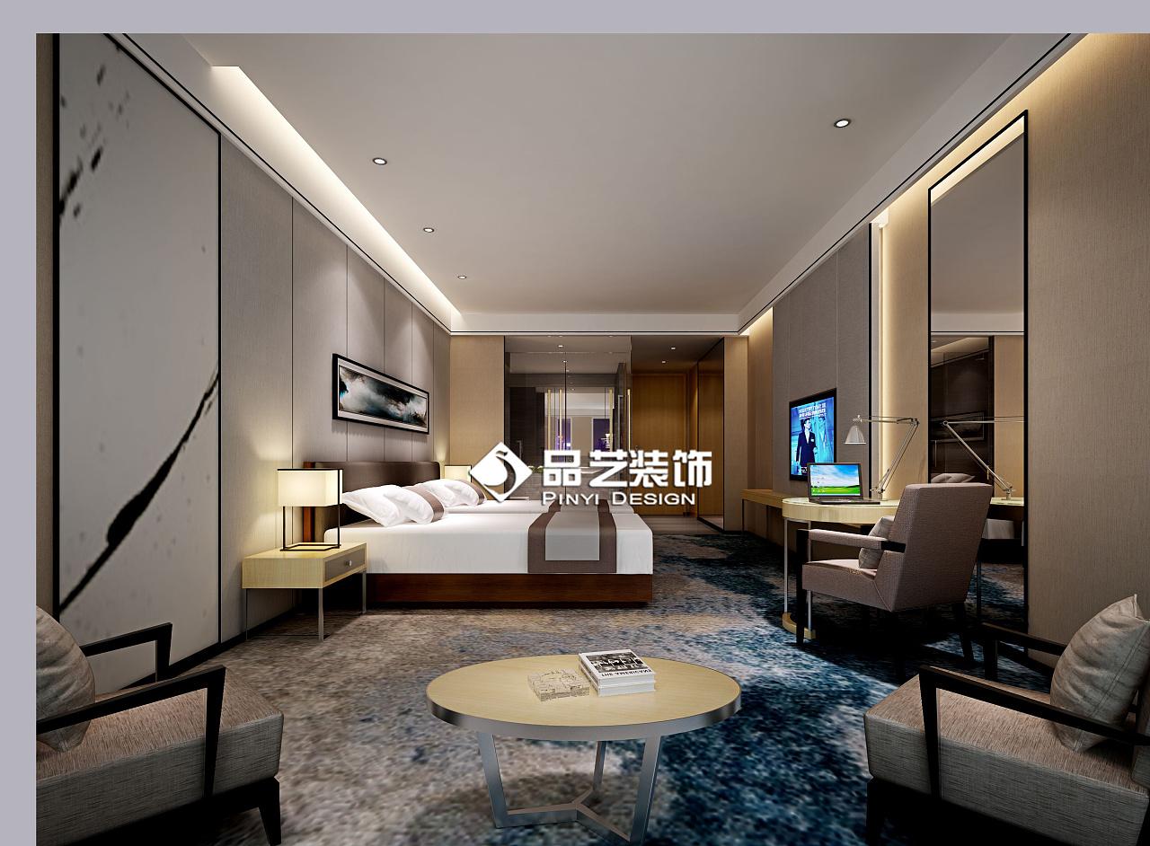 商务连锁酒店客房大堂装修设计效果图图片
