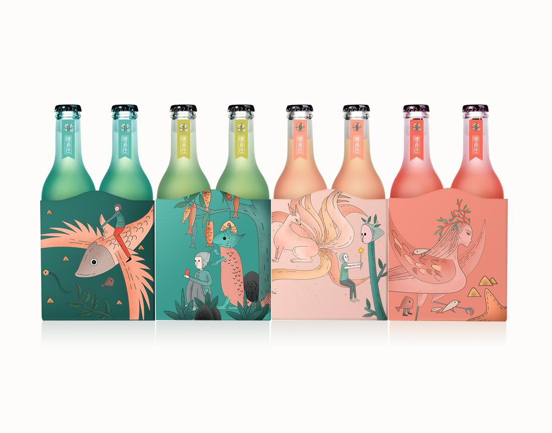 膳海经-vi设计 零食品牌设计 vi手册 插画图形图片