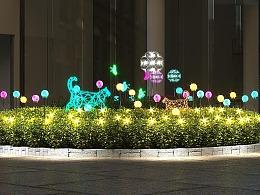 大型花坛灯光美陈定制生产设计安装一条龙服务厂家铭星