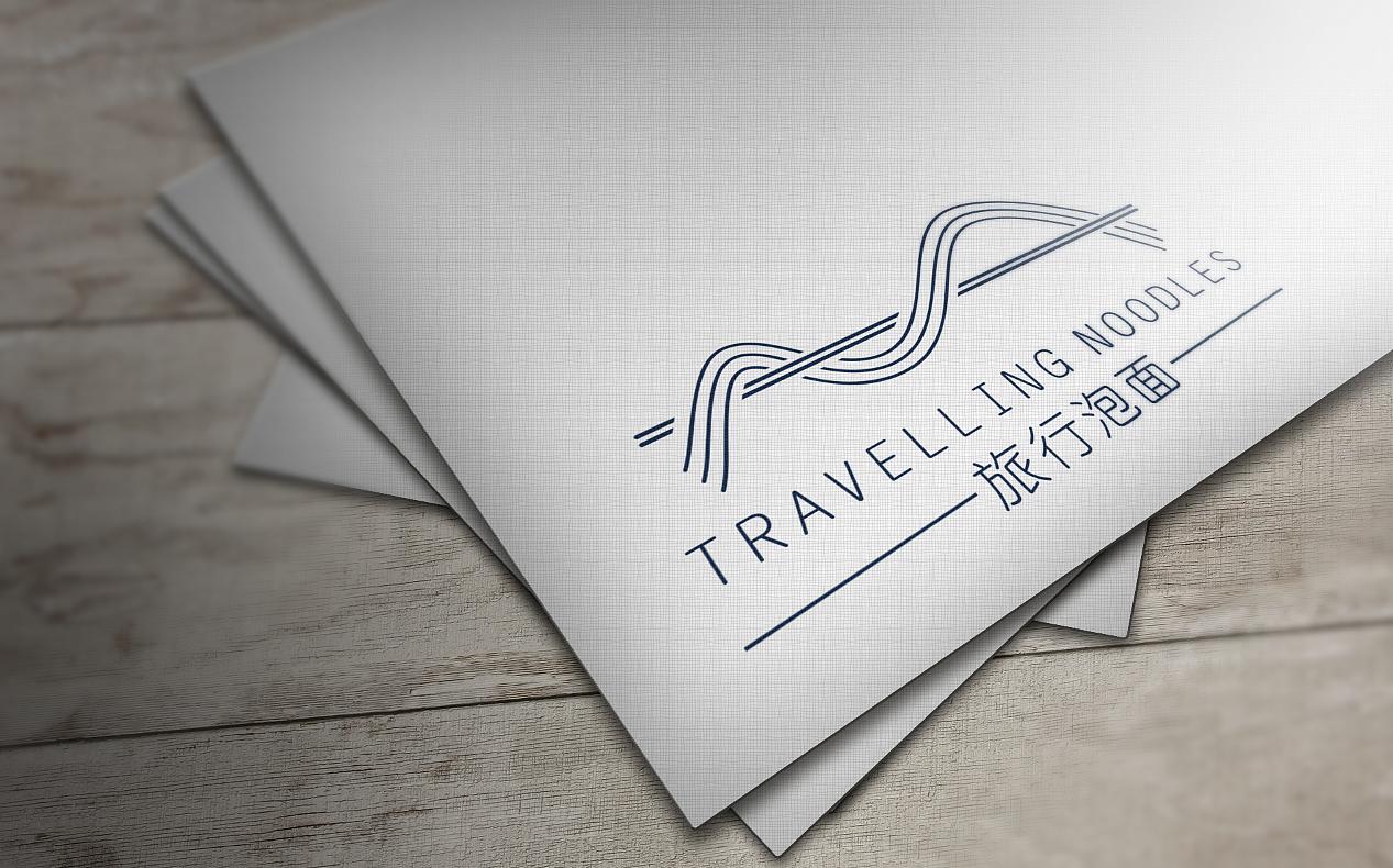 方便面食品logo设计案《旅行的泡面》|平面|标志|小柚图片