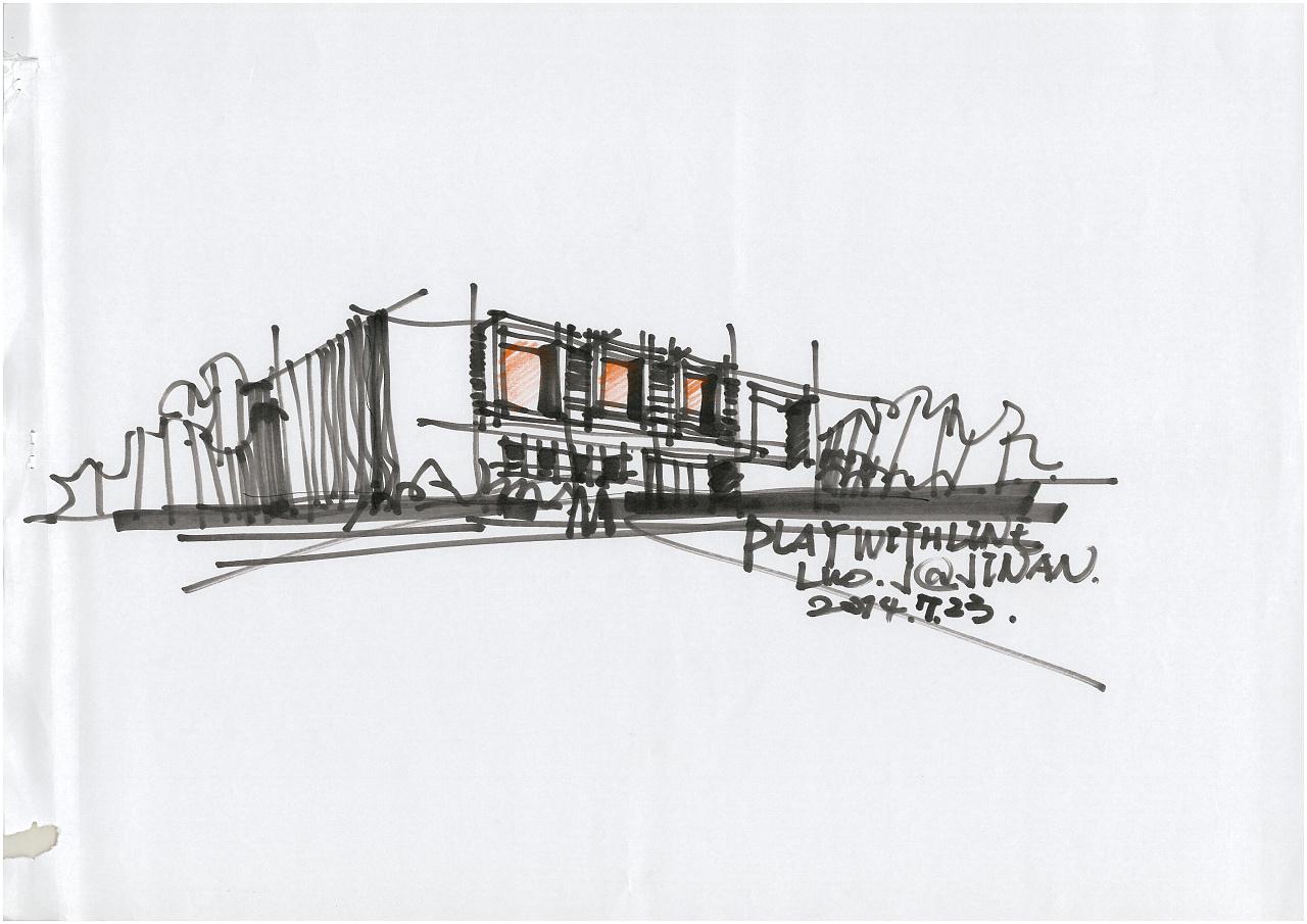 手绘|空间|建筑设计|三川手绘 - 原创作品 - 站酷