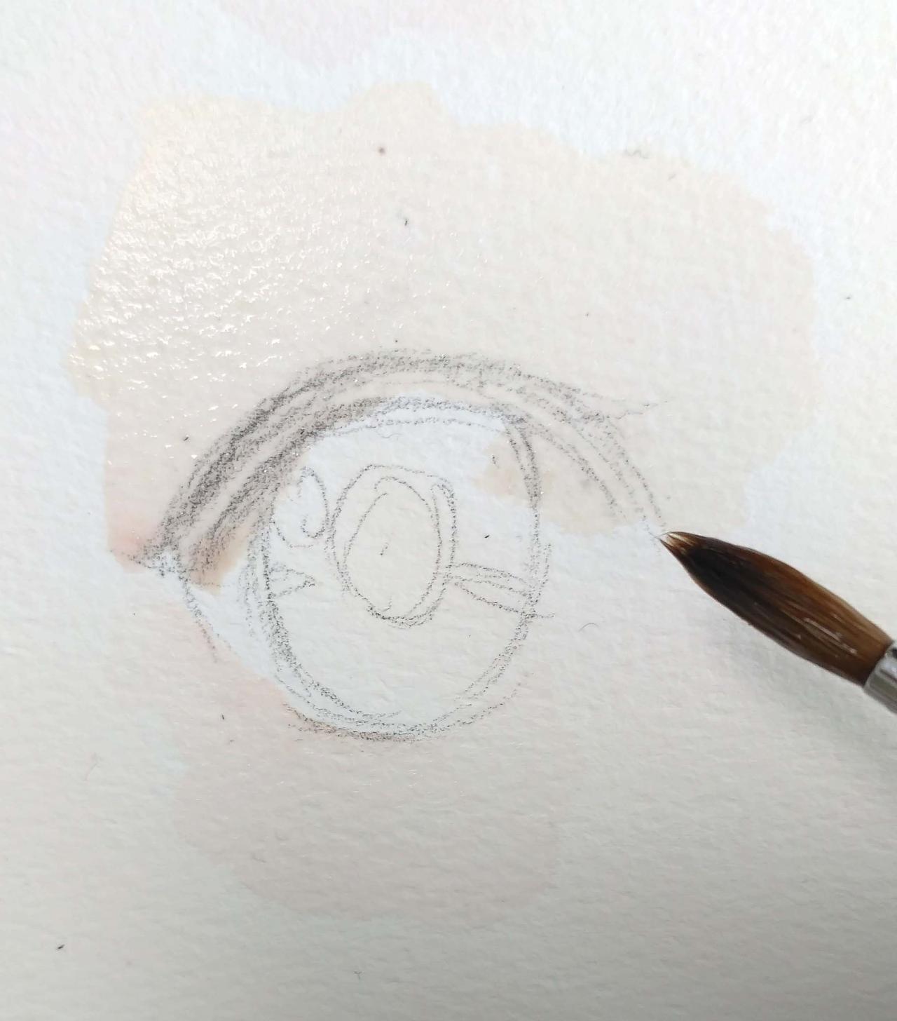 手绘水彩眼睛,大叔漫画工作室