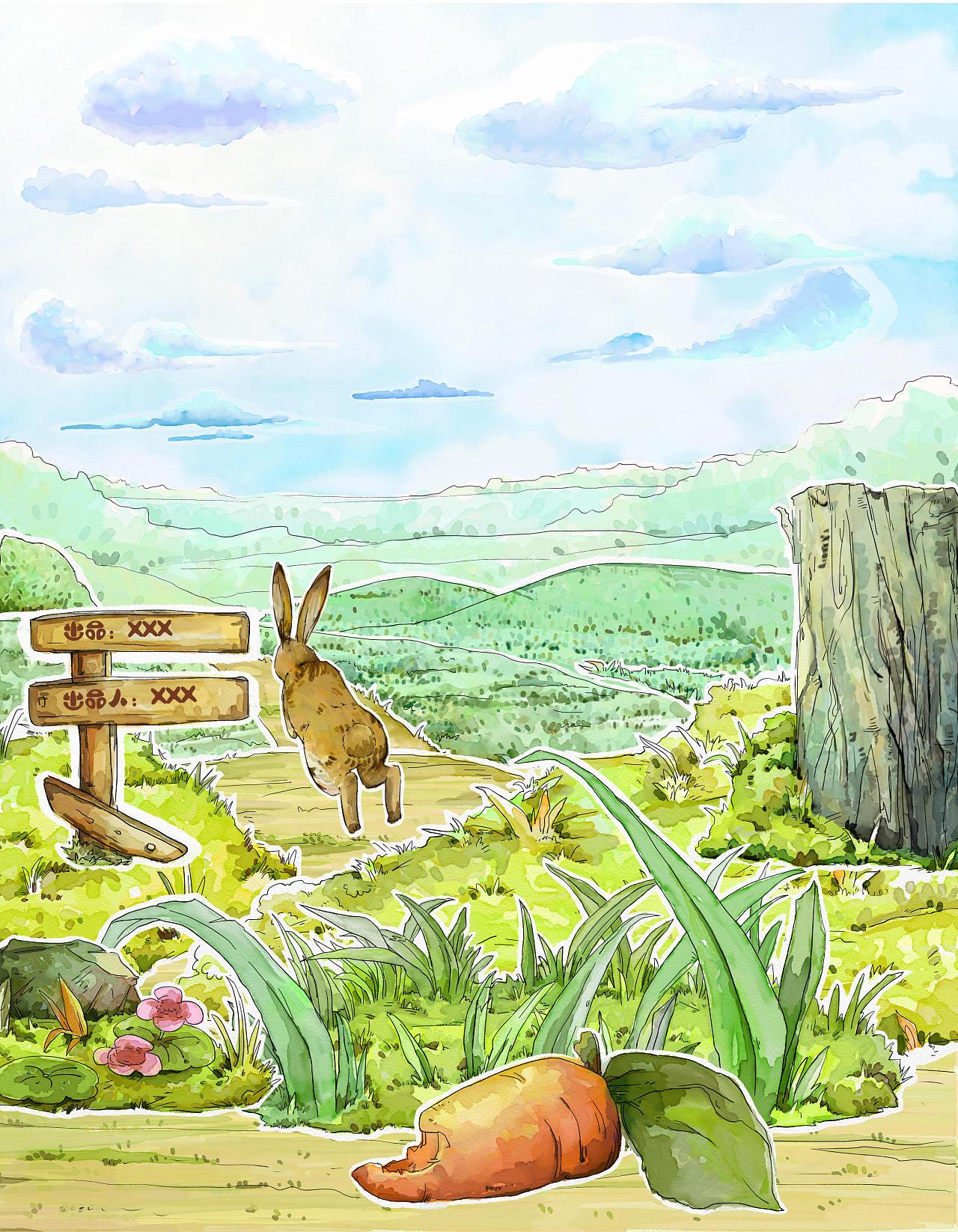 龟兔赛跑 儿童画 - 堆糖,美图壁纸兴趣社区
