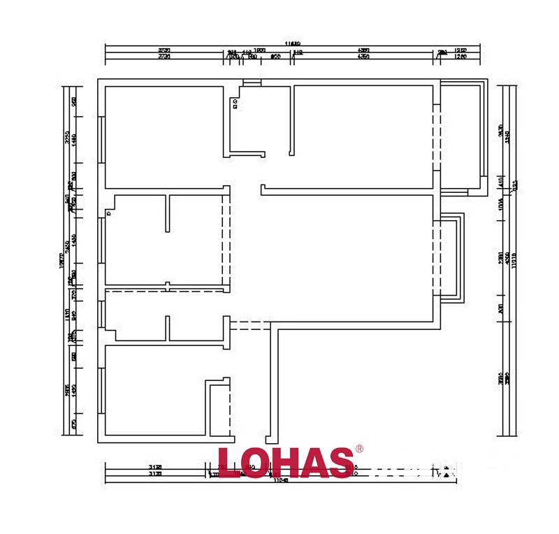 67平三居室新中式风格装修效果图==平面户型图