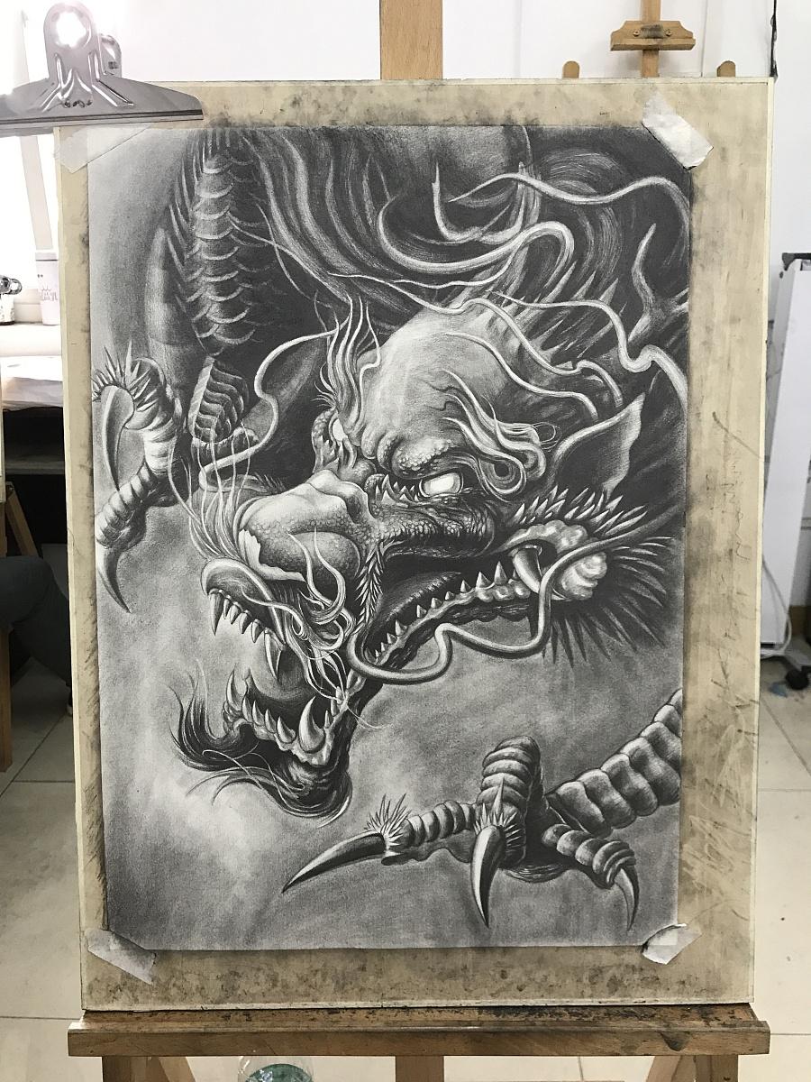 东方龙(纹身手稿)