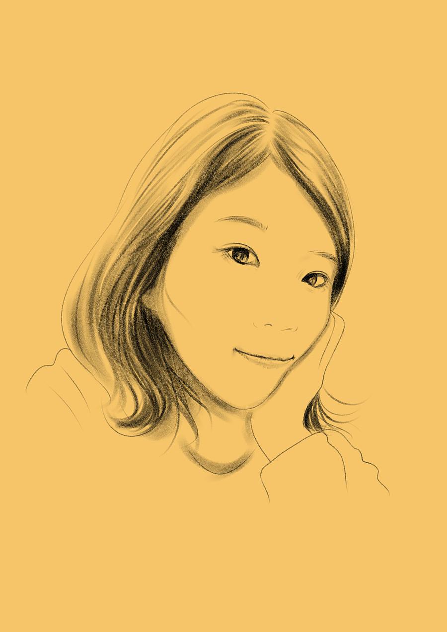 人物手绘素描 像素画 插画 晓绘趣味策划 - 原创设计