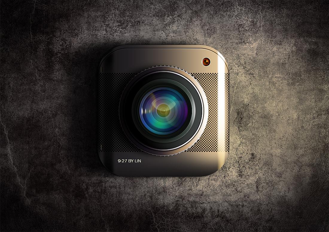 徕卡相机icon图标镜头