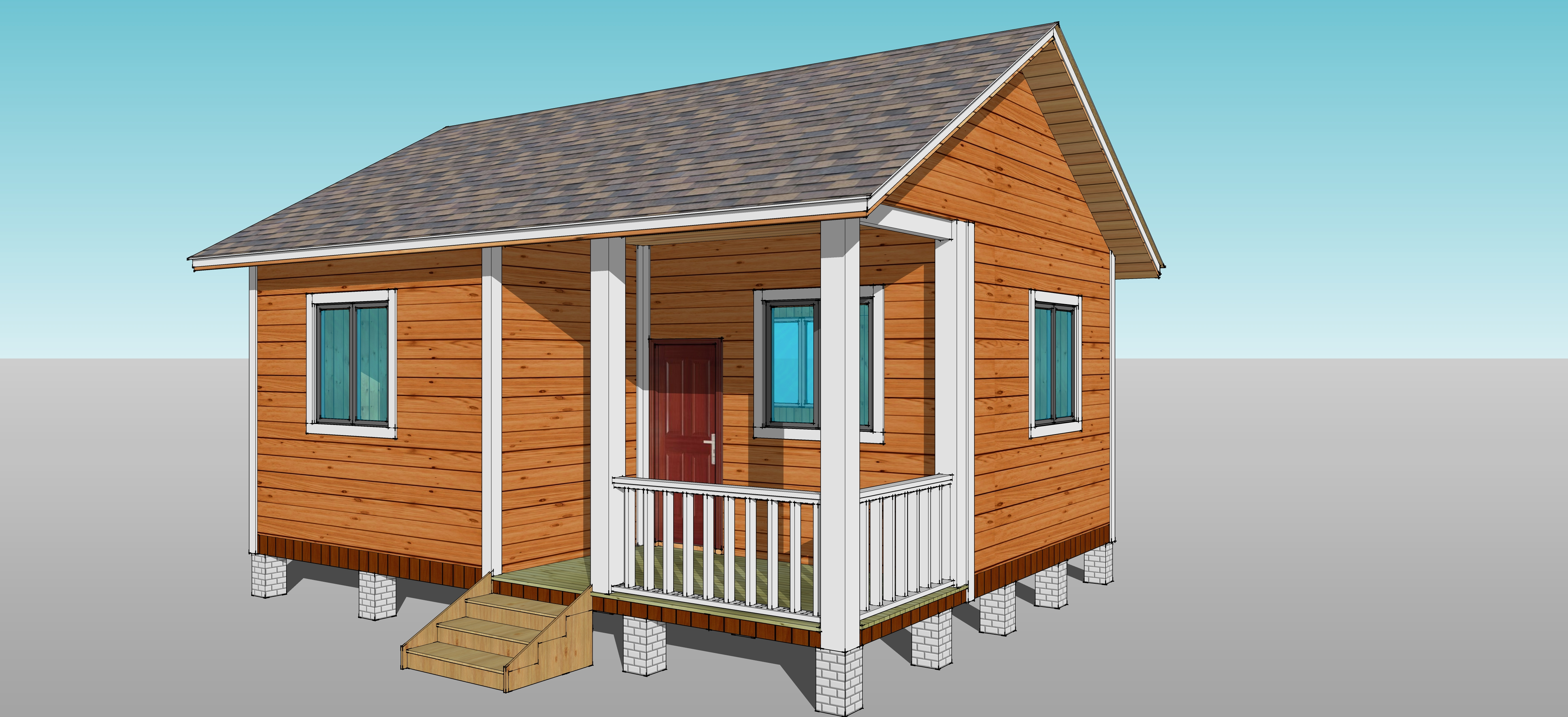 小型木结构别墅