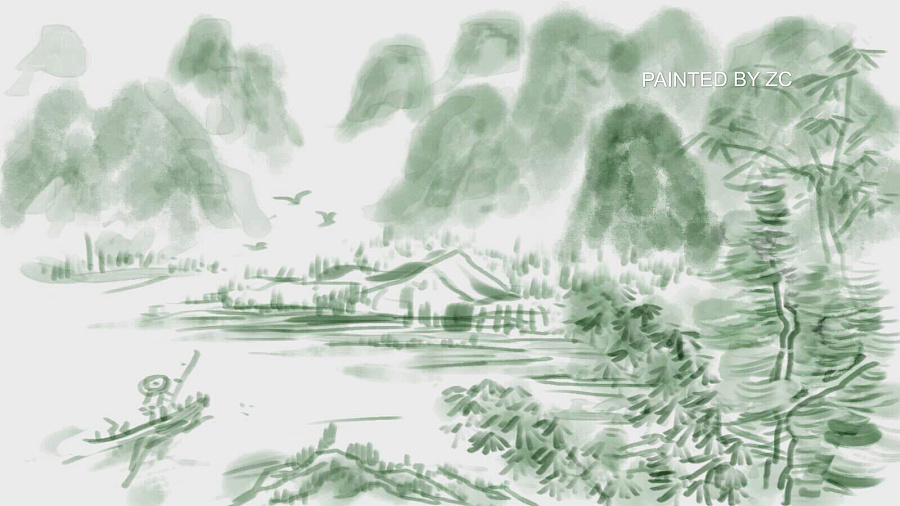 桂林山水#手绘板处女作