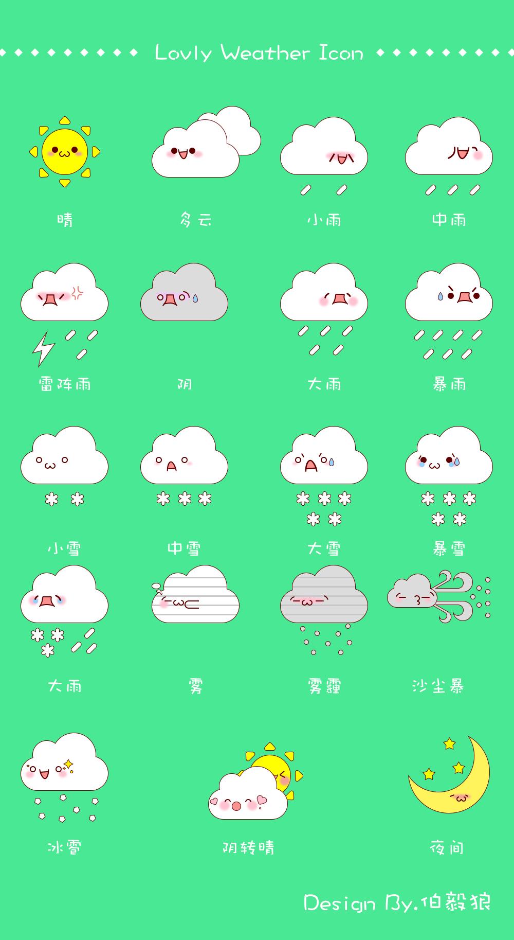 萌萌哒天气小图标