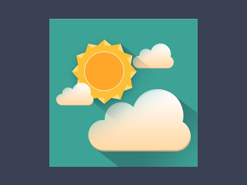 天气图标练习-多云