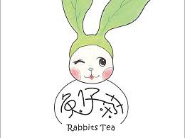 兔仔茶品牌(自拟品牌)包装/插画/