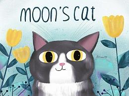 喵的秘密花园の月夜猫
