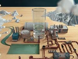 朗诗德净水器|三维产品创意广告