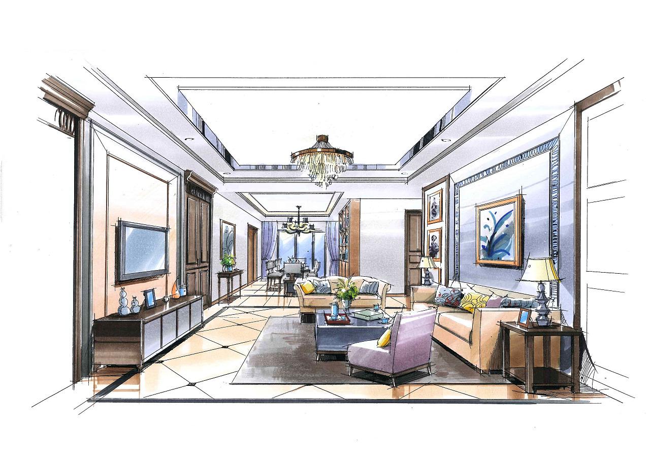 室内手绘|空间|室内设计|好学的小青年 - 原创作品