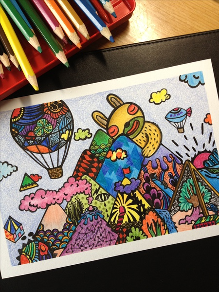 彩色铅笔手绘画